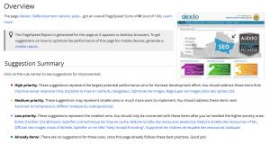 Google Page Speed Alexeo
